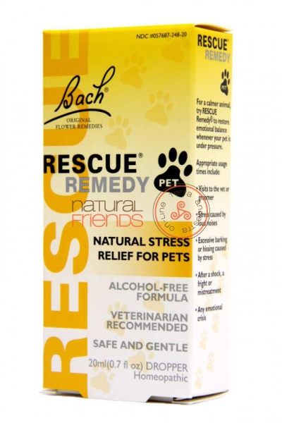 Rescue Remedy PETS Gotas 20ml SEM ALCOOL