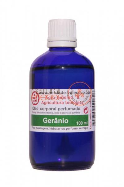 Óleo Vegetal Perfumado com Óleo Essencial de Gerânio
