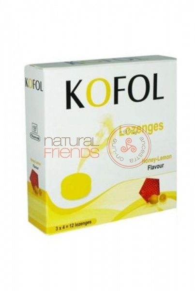 Kofol - 12 rebuçados com sabor mel-limão